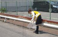 病院周辺の自主清掃活動